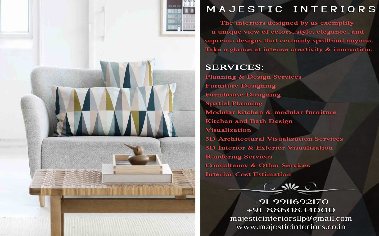 Best Interior Designers In Faridabad Best Rates Majestic Interiors An Interior Designing Firm