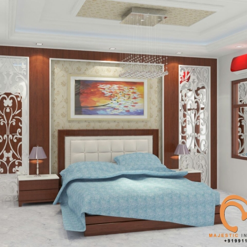 Majestic Interiors Is The Best Interior Designing Firm In Faridabad And Delhi Ncr Pop False Ceiling Wood Work Modular Kitchen Dealers
