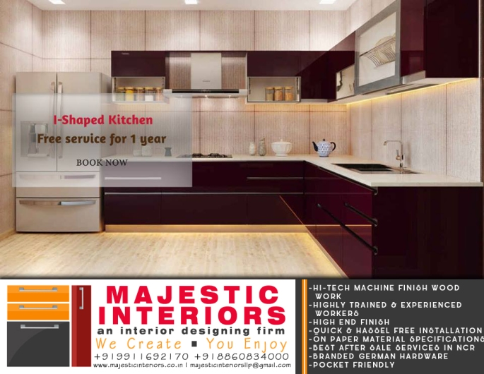 modular kitchen latest design- by majestic interiors