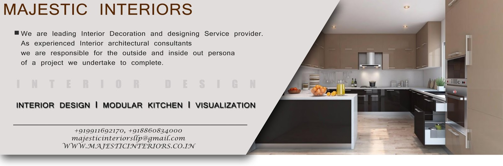 Modular Kitchen Dealers In Faridabad And Bptp Majestic Interiors An Interior Designing Firm